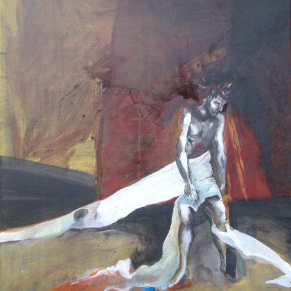 10. Station - Jesus wird seiner Kleider beraubt, 150 x 135 cm, Acryl auf Leinwand, 2007
