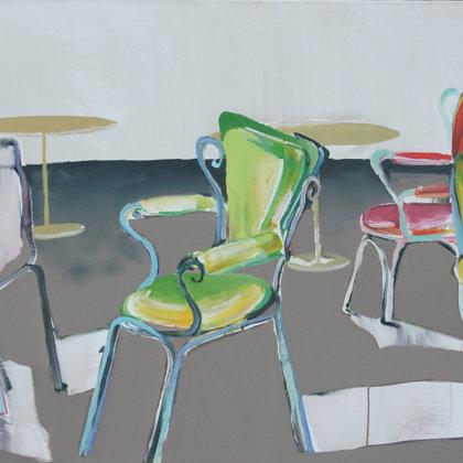 Sitzrichtungen, 90 130 cm, Acryl auf Leinwand, 2010