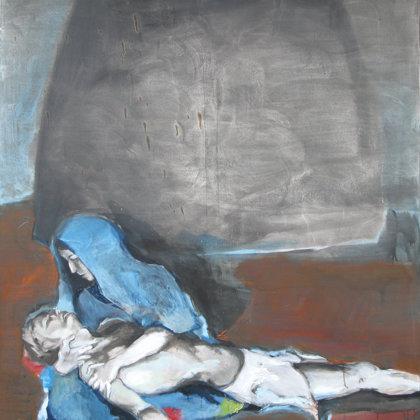 13. Station - Der Leichnam Jesu wird vom Kreuz genommen, 150 x 135 cm, Acryl auf Leinwand,