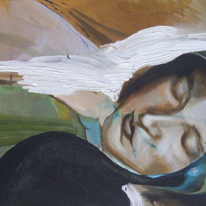 Bernadette, 40 x 50 cm, Mischtechnik auf Leinwand, 2007