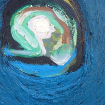 Maria 3, 20 x 17 cm, Oel auf Leinwand, 2007, verkauft