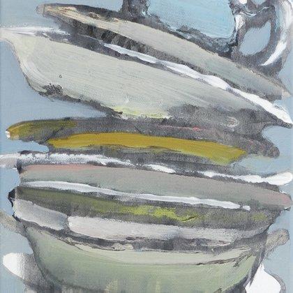 Babel III, 40 x 30 cm, Acryl auf Leinwand, 2012