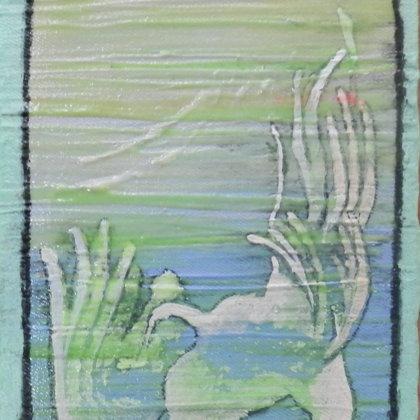 Phoenix, 18 x 13 cm, Mischtechnik auf Leinwand, 2015