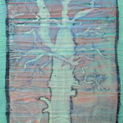 Eiche, 18 x 13 cm, Mischtechnik auf Leinwand, 2015