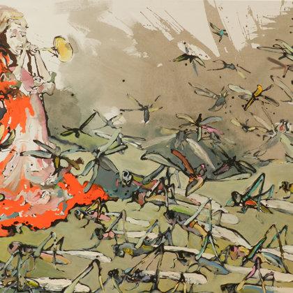 Die Plage, 130 x 160 cm, Acryl auf Leinwand, 2011