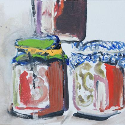 Einmachgläser, Acryl auf Leinwand, 30 x 40 cm, 2009