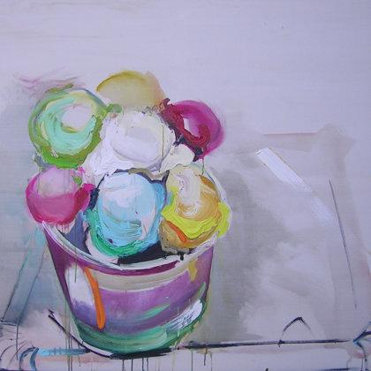 Eiscreme I, Acryl auf Leinwand, 135 x 150 cm, 2009