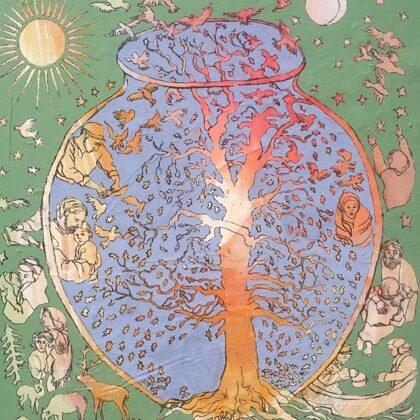 Hohes Lied II, 73 x 60 cm, Acryl und Kohle auf Leinwand, 2020