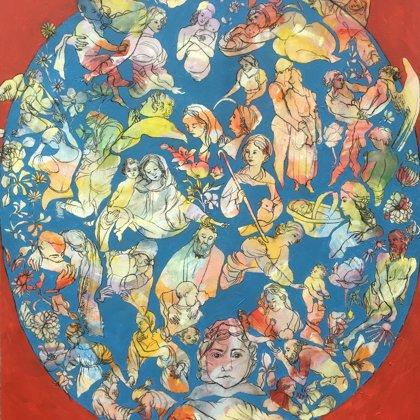 Liebe, 130 x 100 cm, Acryl und Kohle auf Leinwand, 2019, verkauft
