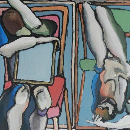 Mesokosmen II, 50 x 60 cm, Acryl auf Leinwand, 2013