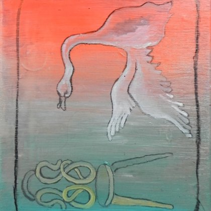 Odem VII, 30 x 25 cm, Acryl auf LW, 2014