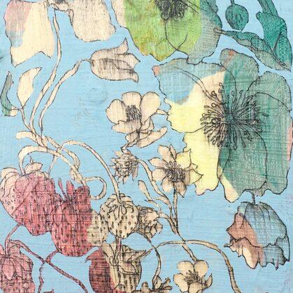 Sommer, 18 x 13 cm, Mischtechnik auf Leinwand, 2020