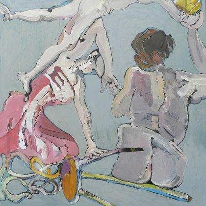 Um uns, 150 x 135 cm, Acryl auf Leinwand, 2012