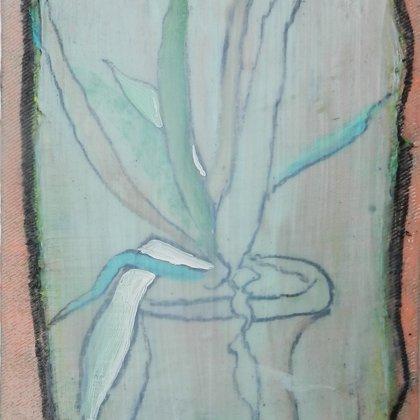 Pflanze, 18 x 13 cm, Acryl auf LW, 2014