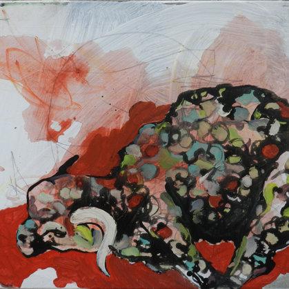 Das Lamm, 50 x 60 cm, Acryl auf Leinwand, 2011