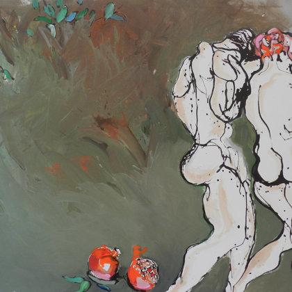 Die Vertreibung, 130 x 160 cm, Acryl auf Leinwand, 2011